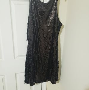 NWT Holiday Little black dress, stretch w/ sequin